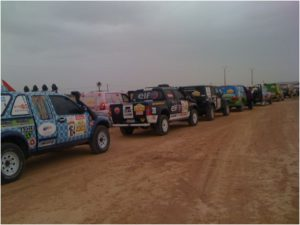 depart de la 1ere etape du rallye aicha des gazelles 2011