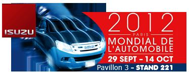 isuzu dmax - pavillon 3 stand 221 mondial de l'automobile 2012