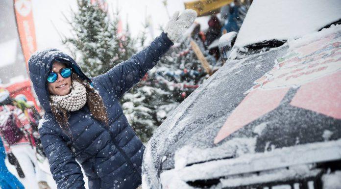 Marion Haerty Rock on snowboard tour