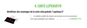 Nouveau Site lepickup-fr carte club