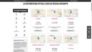 Nouveau Site lepickup-fr liste distributeurs