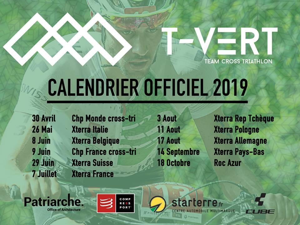 calendrier epreuves teamtvert 2019