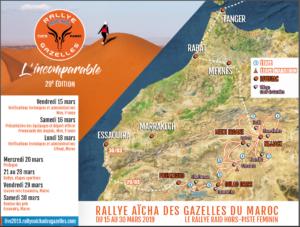 rallye aicha des gazelles 2019 parcours